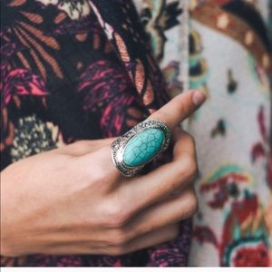 Figleaffashion bohemian turquoise ring